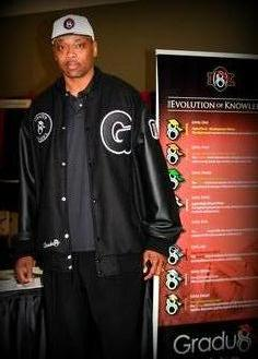 Corie Blount wearing Gradu8 jacket manufactured by JL Custom Jackets.